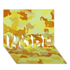 Camouflage Yellow HOPE 3D Greeting Card (7x5)