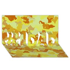 Camouflage Yellow #1 DAD 3D Greeting Card (8x4)