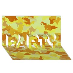 Camouflage Yellow PARTY 3D Greeting Card (8x4)