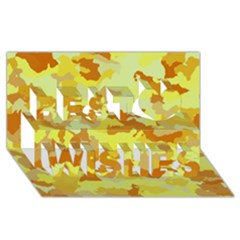 Camouflage Yellow Best Wish 3D Greeting Card (8x4)