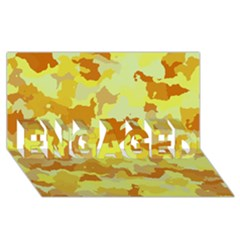Camouflage Yellow ENGAGED 3D Greeting Card (8x4)