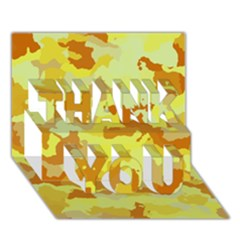 Camouflage Yellow THANK YOU 3D Greeting Card (7x5)