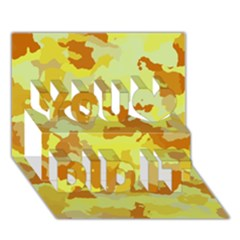Camouflage Yellow You Did It 3D Greeting Card (7x5)