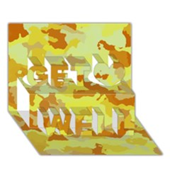 Camouflage Yellow Get Well 3d Greeting Card (7x5)