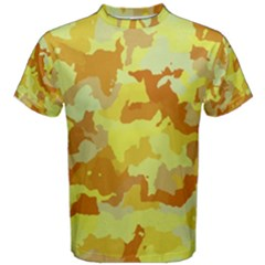 Camouflage Yellow Men s Cotton Tees