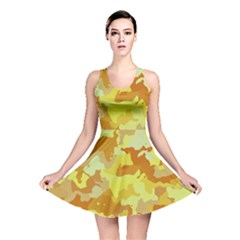 Camouflage Yellow Reversible Skater Dresses
