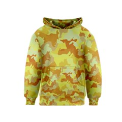 Camouflage Yellow Kid s Pullover Hoodies