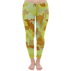 Camouflage Yellow Winter Leggings
