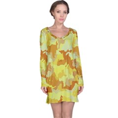 Camouflage Yellow Long Sleeve Nightdresses