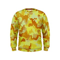 Camouflage Yellow Boys  Sweatshirts