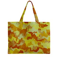 Camouflage Yellow Zipper Tiny Tote Bags