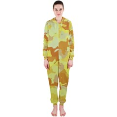 Camouflage Yellow Hooded Jumpsuit (ladies)