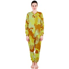 Camouflage Yellow OnePiece Jumpsuit (Ladies)