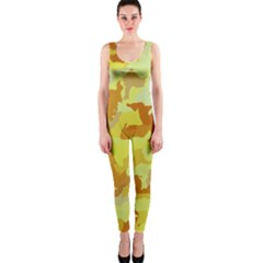 Camouflage Yellow Onepiece Catsuits