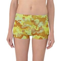 Camouflage Yellow Boyleg Bikini Bottoms