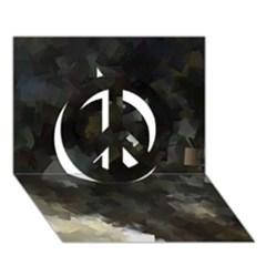 Space Like No 8 Peace Sign 3d Greeting Card (7x5)