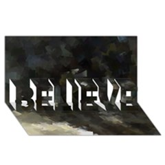 Space Like No.8 BELIEVE 3D Greeting Card (8x4)