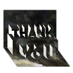 Space Like No 8 Thank You 3d Greeting Card (7x5)