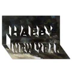 Space Like No 8 Happy New Year 3d Greeting Card (8x4)