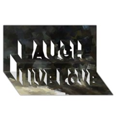 Space Like No.8 Laugh Live Love 3D Greeting Card (8x4)
