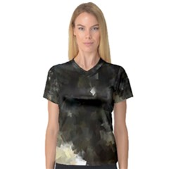 Space Like No.8 Women s V-Neck Sport Mesh Tee