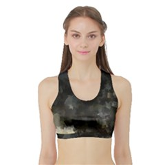 Space Like No.8 Women s Sports Bra with Border