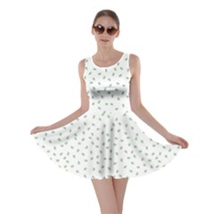 Officially Sexy Os Collection Green & White Skater Dress