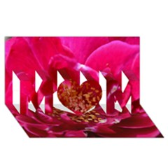 Red Rose Mom 3d Greeting Card (8x4)