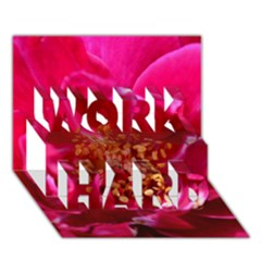Red Rose WORK HARD 3D Greeting Card (7x5)