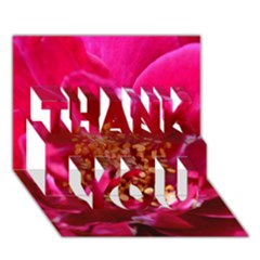 Red Rose Thank You 3d Greeting Card (7x5)