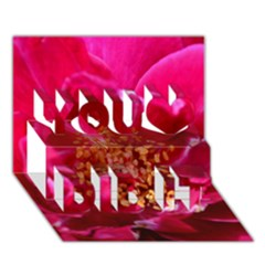 Red Rose You Did It 3d Greeting Card (7x5)