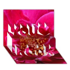 Red Rose You Rock 3D Greeting Card (7x5)