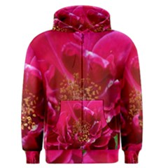 Red Rose Men s Zipper Hoodies