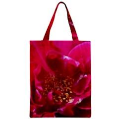 Red Rose Zipper Classic Tote Bags