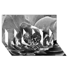 Black and White Rose MOM 3D Greeting Card (8x4)