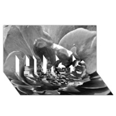 Black And White Rose Hugs 3d Greeting Card (8x4)