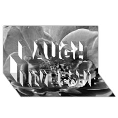 Black And White Rose Laugh Live Love 3d Greeting Card (8x4)