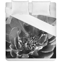 Black And White Rose Duvet Cover (double Size)