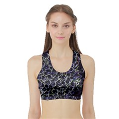 Grapes Women s Sports Bra with Border