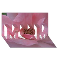 Pink Rose MOM 3D Greeting Card (8x4)