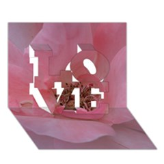 Pink Rose LOVE 3D Greeting Card (7x5)