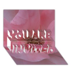 Pink Rose YOU ARE INVITED 3D Greeting Card (7x5)