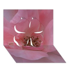Pink Rose Clover 3D Greeting Card (7x5)