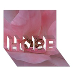 Pink Rose HOPE 3D Greeting Card (7x5)