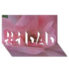 Pink Rose #1 DAD 3D Greeting Card (8x4)