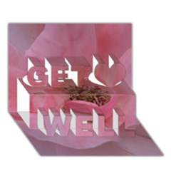 Pink Rose Get Well 3d Greeting Card (7x5)