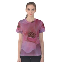 Pink Rose Women s Cotton Tees