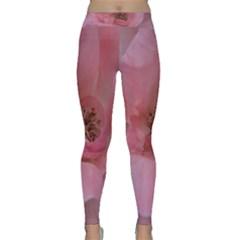 Pink Rose Yoga Leggings