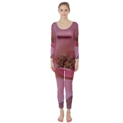 Pink Rose Long Sleeve Catsuit