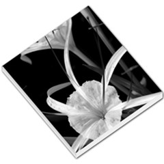 Exotic Black And White Flowers Small Memo Pads